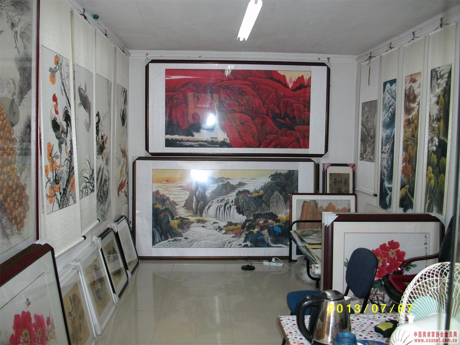 画廊展柜效果图手绘