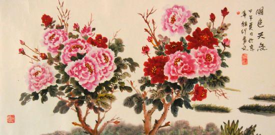 花鸟山水画 写意花鸟山水画欣赏 中国白描花鸟山水画