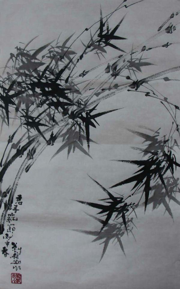 钢笔素描古树风景图片
