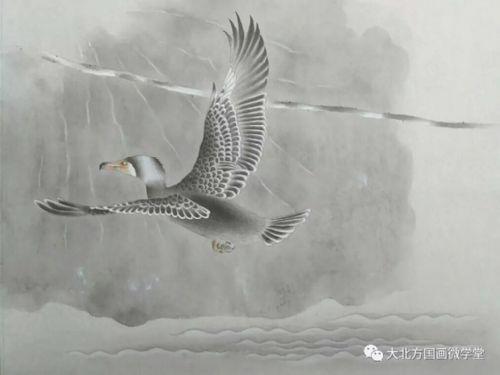 简单水墨画教案-飞鸟系列之三   飞鸟系列之四   秋天的故事   导师刘正波教学类作品及精